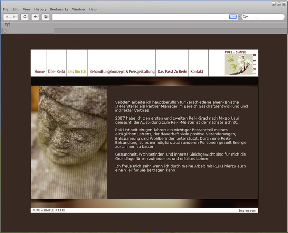 Homepage Design Reiki