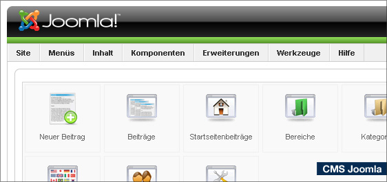 Joomla CMS Backend